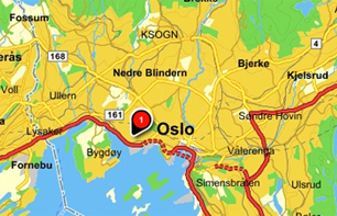 Location Coordinates Embassy Of India Oslo Norway - Norway on us map